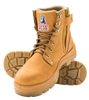 Steel Blue ARGYLE Non-Safety Lace Up Zip Sided Ankle Boot Wheat (310152 Wheat)
