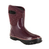 BOGS Classic Triangles Mid Handles Womens Insulated Gumboots in Plum