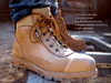 Redback Cobar Zip Sided Steel Toe Work Boots with Scuff Cap in Black