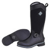 Muck Boots Reign Tall Women's Equestrian Style Insulated Gumboots in Black and Grey (SRGNT-000)