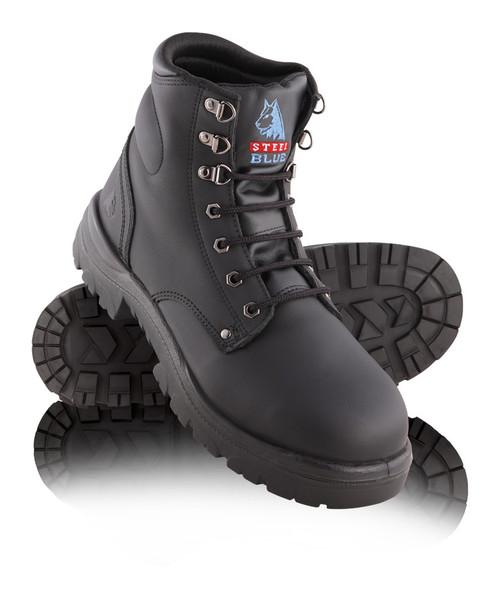 Steel Blue ARGYLE Nitrile Outsole Steel Cap Boots Black