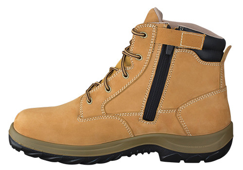 Oliver Boots WB34-662 Wheat Nubuk Mid Cut Zip Sided Boot with Toe Cap