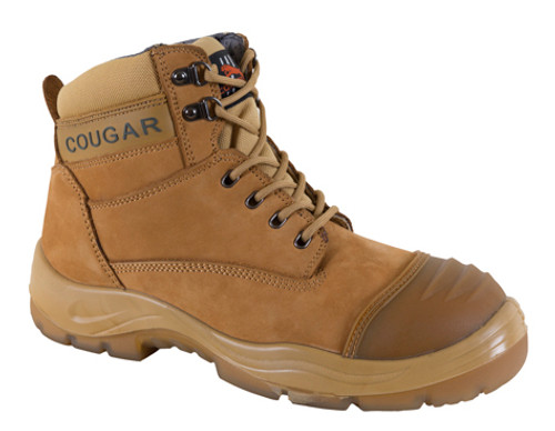 Cougar Colorado Work Boots With Steel Cap in Wheat