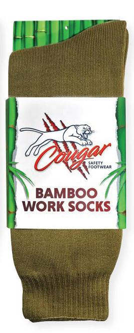 Cougar Mens Bamboo Socks 5 Pack Moss Green