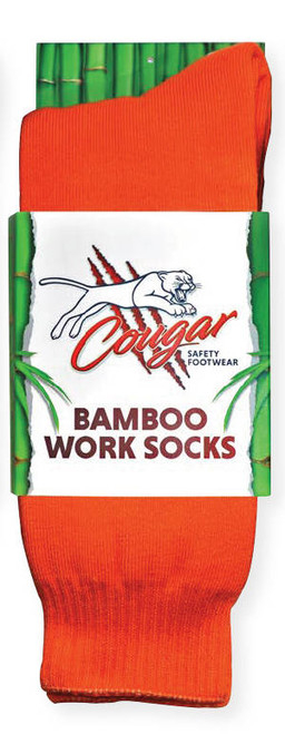 Cougar Mens Bamboo Socks 5 Pack Orange