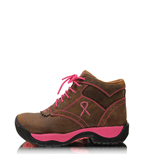 Twisted X Women's Pink Ribbon All Rounder Lace Up Boots (TCWAL0007)