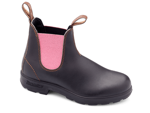 Blundstone 1377 Rose Blush Elastic Sided Stout Brown Boots (1377)