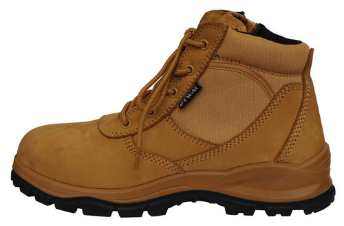 Otway Eureka Soft Toe Zip sided Work Boots in Wheat (OM0102)