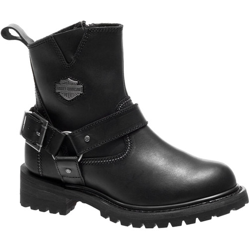 Harley Davidson Desmet Women's Full Grain Leather Boots in Black (D87152 Black)