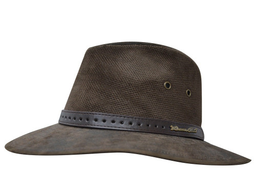 Thomas Cook Normanton Suede Hat with Mesh and Eyelet Ventilation (TCP1930HAT)
