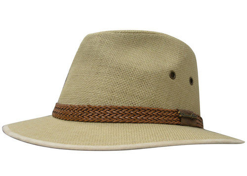 Thomas Cook Broome Linen Hat in Tan (TCP1932HAT Tan)