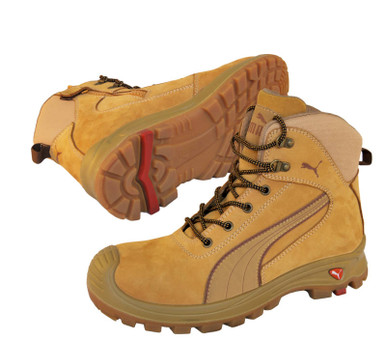 Puma Safety Boots Nullarbor Wheat Zip Sided Work Boots