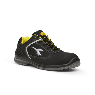 Diadora Utility Bassano Low Black And Yellow Safety Shoes