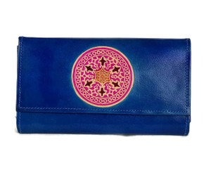 womens real leather hand painted wallet