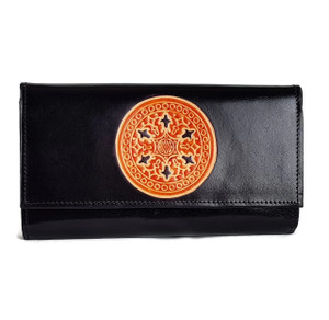 Real leather hand painted wallets for women