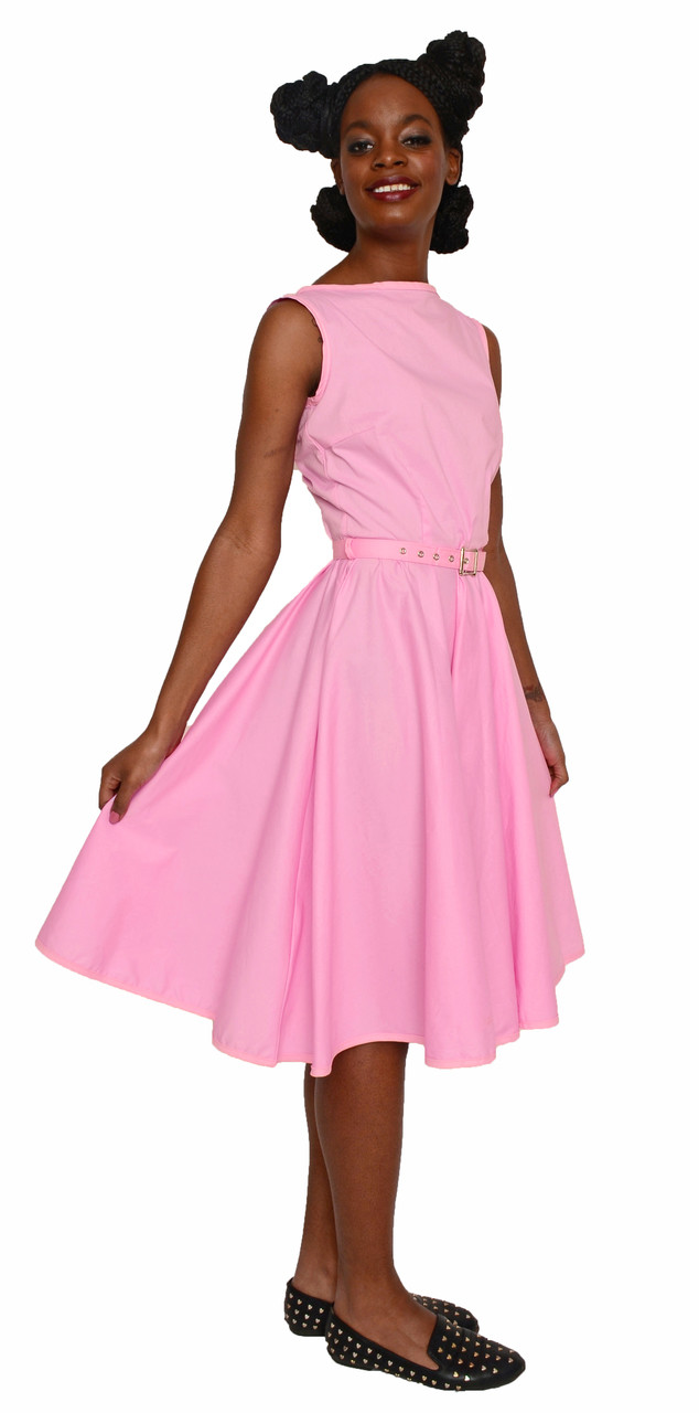 Hey Viv ! Retro Fit & Flare Dress in Cotton Candy Pink - 50s Style ...