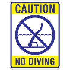 "Caution No Diving Sign - 18"" x 24"""