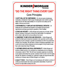 Do The Right Thing Core Principles Sign