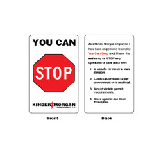 """You Can Stop Plastic Cards - 2.12"""" x 3.37"""""""