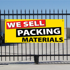 We Sell Packing Materials Banner - Festive