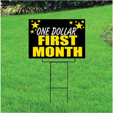 One Dollar First Month Sign for Self Storage - Celebration