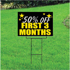 50 Percent Off First Three Months Sign Self Storage - Celebration