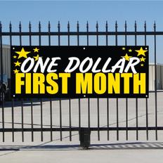 One Dollar First Month Banner - Celebration