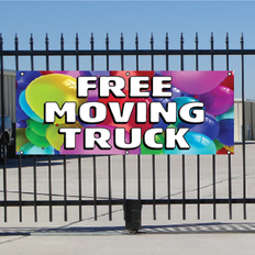 Free Moving Truck Banner - Balloons