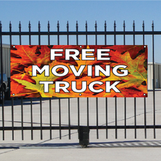 Free Moving Truck Banner - Fall
