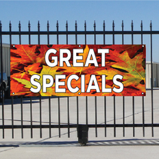 Great Specials Banner - Fall