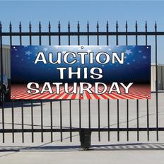 Auction This Saturday Banner - Patriotic