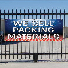 We Sell Packing Materials Banner - Patriotic