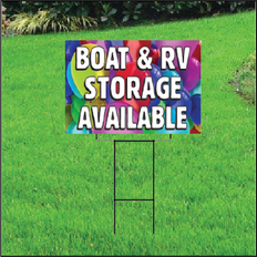 Boat & RV Storage Self Storage Sign - Balloons