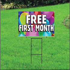 Free First Month Sign for Self Storage - Balloons