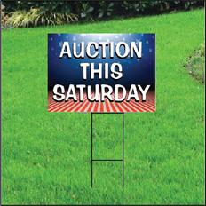 Auction This Saturday Self Storage Sign - Patriotic