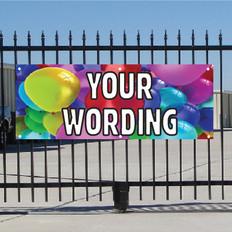 Semi Custom Banner - Balloons
