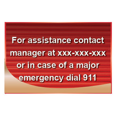For Assistance Contact Manager