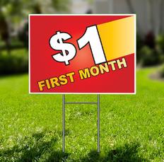 1-Dollar-Off  for Self Storage Yard Sign - Dash In