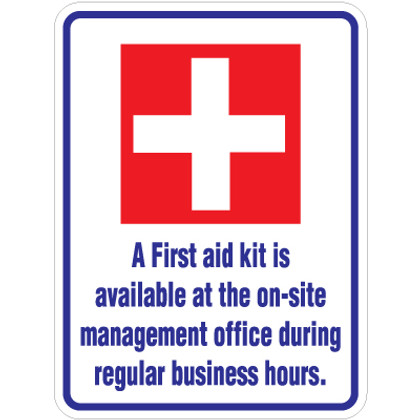 """First Aid Kit Sign - 18"""" x 24"""""""