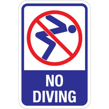 """No Diving Sign - 12"""" x 18"""""""