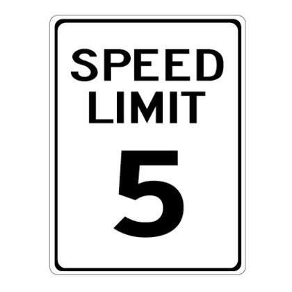 "5 MPH Speed Limit Sign - 18"" x 24"""