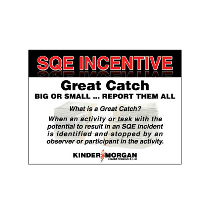 SQE Great Catch Sign