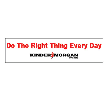 Do The Right Thing Everyday Banner - 2' x 8'