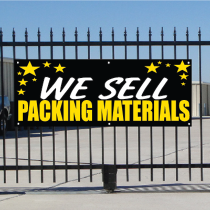 We Sell Packing Materials Banner - Celebration