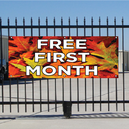 Free First Month Banner - Fall