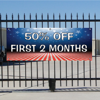 50 Percent Off First Two Months Banner - Patriotic