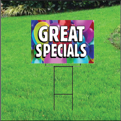Great Specials Self Storage Sign - Balloons