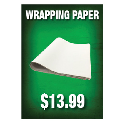 Wrapping Paper Sign