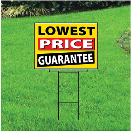 Lowest Price Guarantee Sign - Festive