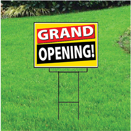 Grand Opening Sign - Festive